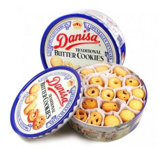 进口零食品 皇冠曲奇饼干 丹麦风味曲奇 精装铁盒非礼盒装