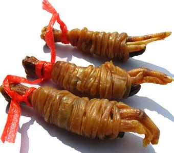 鸭脚包安徽特产水阳三宝鸭肠包爪掌心舌尖上的中国美食