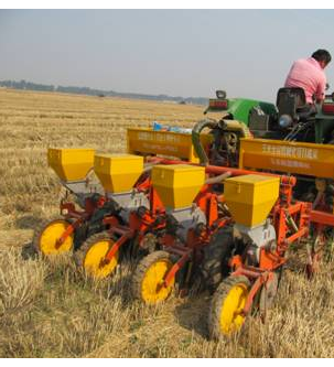 气吹式玉米免耕精量播种机的正确调整方法