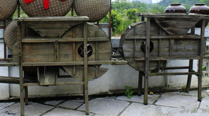 老式农具风谷车 (4)